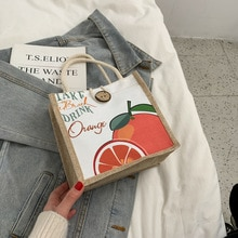Canvas Bag 2021 New Trendy Brand Fashion Korean Version of All-match Printing Lunch All-match Straw