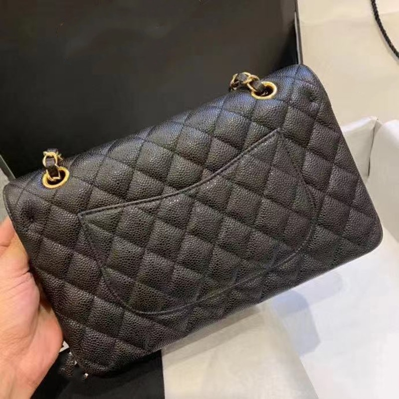 حقيبة جلدية كافيار جديدة من Sasa لعام 2021 بتصميم من الجلد الطبيعي للسيدات