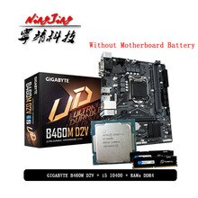 Intel Core I5 10400 Cpu + Gigabyte Ga B460M D2V Moederbord + Pumeitou DDR4 8G 16G 2666Mhz rams Pak Lga 1200 Zonder Koeler