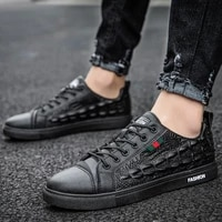 2021 new men shoes summer casual imitation leather flat shoes lace up low top male sneakers tenis masculino adulto shoes nanx444