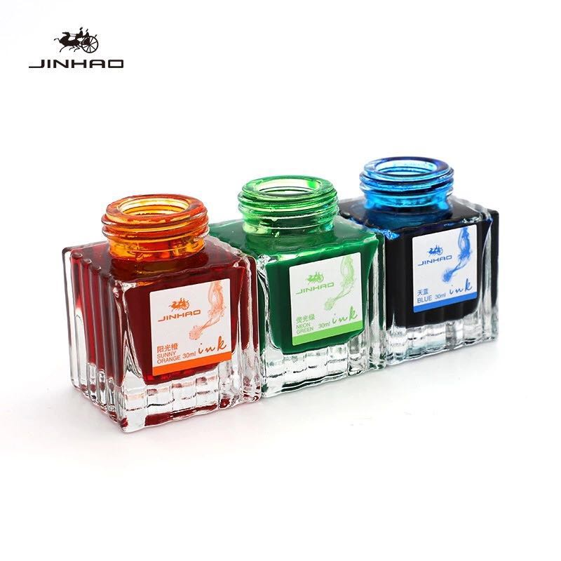 Jinhao 3001 color pen ink 30ml non-carbon color ink glass pen dipped in water pen does not block pen