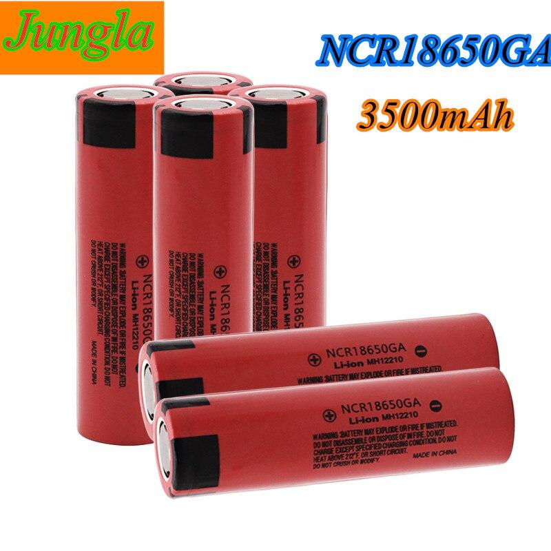 2021 оригинальный NCR 18650GA высокий разряд 3,7 в 3500 мАч 18650 перезаряжаемая батарея фонарик Плоская верхняя литиевая батарея