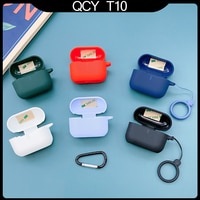 Чехол для QCY T10, моющийся силиконовый защитный чехол, противоударный чехол для наушников QCY T11, аксессуары для Bluetooth наушников