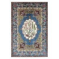 rug hand knotted persian traditional silk rug new floral oriental art area rugr room decor 2x3 foot