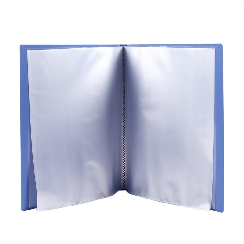 Синяя пластиковая крышка А4 чистый файл книги с 20 прозрачными карманами