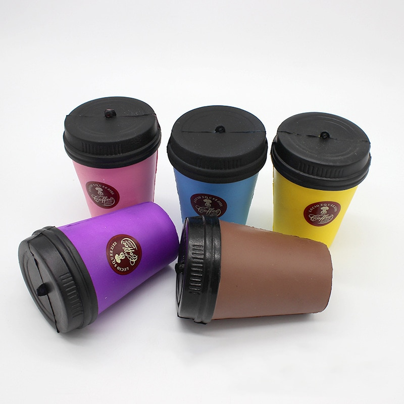 Extrusion Coffee Cup Antistress Entertainment Novelty Gag Toys  tress Relief Anti-Stress Practical Joke Surprise Gift For Kids enlarge