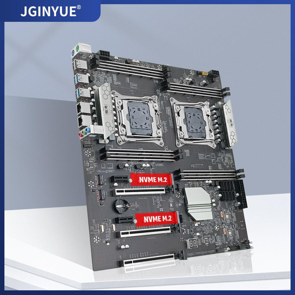 JINGYUE X99 اللوحة LGA 2011-3 دعم DDR4 ECC/ذاكرة وصول عشوائي مكتبية إنتل سيون E5 V3/V4 المعالج SATA3 ، M.2 NVME أربع قنوات X99-D8