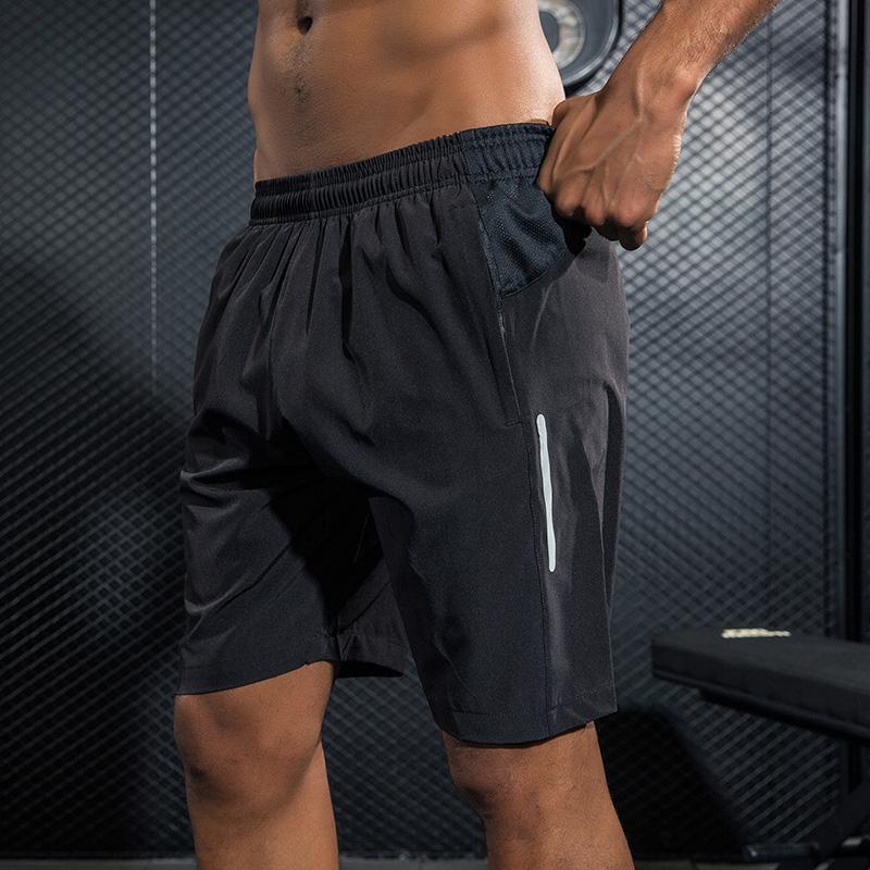 Treningowe męskie szorty do biegania do maratonu Fitness szybkie suche drukowanie siłownia uprawianie sportów joggingowych szorty i kieszenie XL szorty do biegania