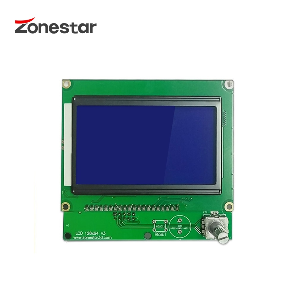 ZONESTAR LCD 12864 ЖК-кабель ЖК-дисплей модуль 128x64 точек синий экран подсветка для ZRIB RAMPS Arduino Mega