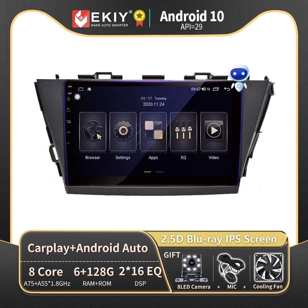EKIY DSP Autoradio 2din أندرويد 10 لتويوتا فولت زائد Prius ألفا RHD 2012-2015 راديو السيارة الوسائط المتعددة مشغل فيديو لتحديد المواقع والملاحة
