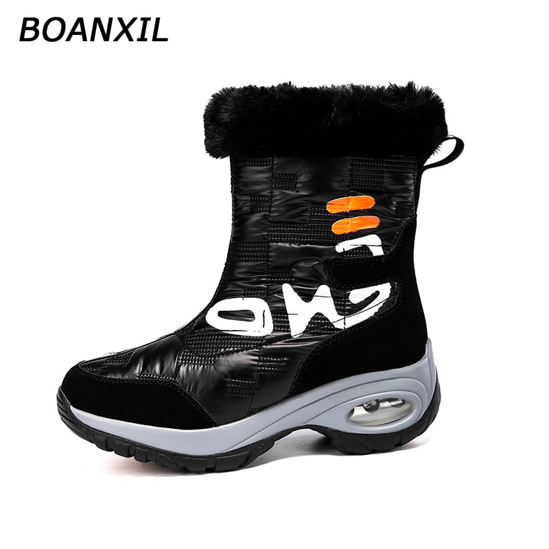 BOANXIL Women Boots 2021 Fashion Female Snow Boots for Winter Keep Warm Anti-Slip Shoes Outdoor  Tre