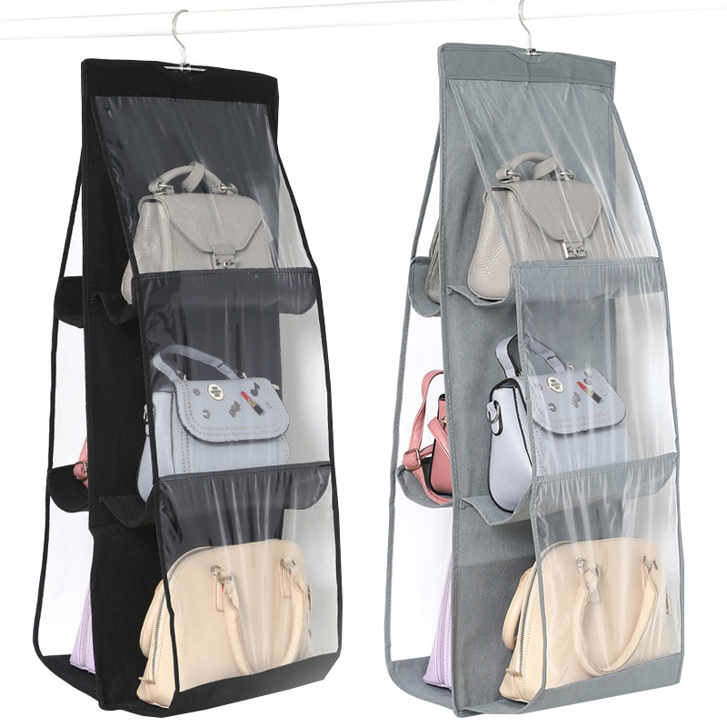 aliexpress.com - Hanging Handbag Organizer for Wardrobe Closet Transparent Storage Bag Door Wall Clear Sundry Shoe Bag with Hanger Pouch