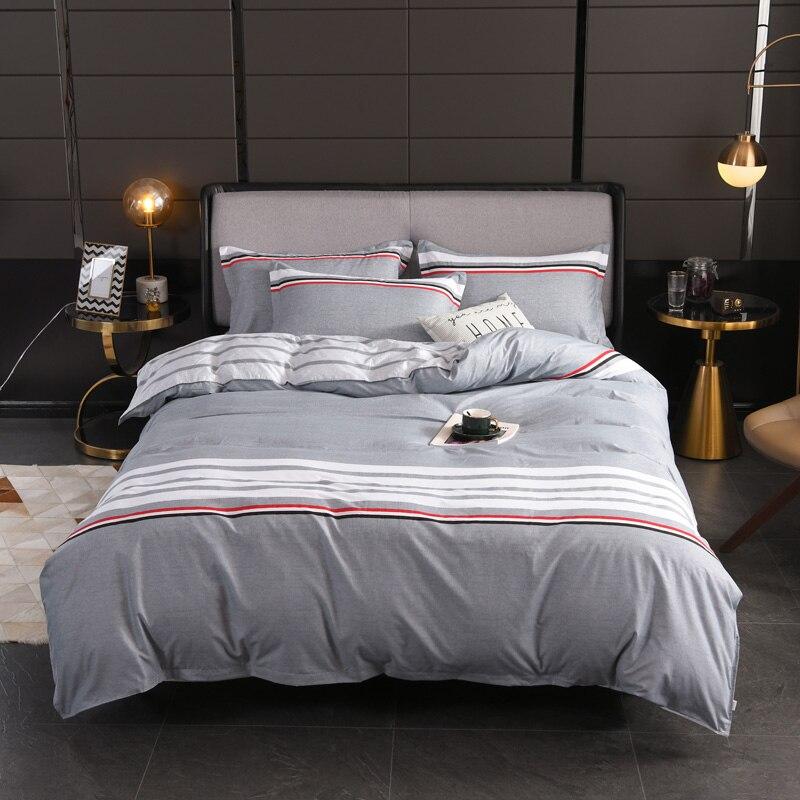 Juego de fundas de edredón tamaño king size de rayas nórdicas, funda de almohada de 220x240 3 uds, conjunto de funda de edredón de 200x200, juego de sábanas, funda de cama doble