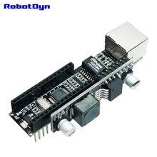 Bouclier réseau Ethernet RobotDyn-W5500 Nano V3 avec Module PoE passif à utiliser avec Arduino Nano