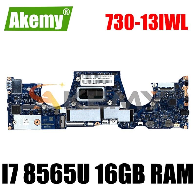 لينوفو اليوغا 730-13IWL اللوحة الأم للكمبيوتر المحمول ELZP3 LA-G581P ث/وحدة المعالجة المركزية i7 8565U 16GB RAM اختبار FRU 5B20T02800 اللوحة الرئيسية