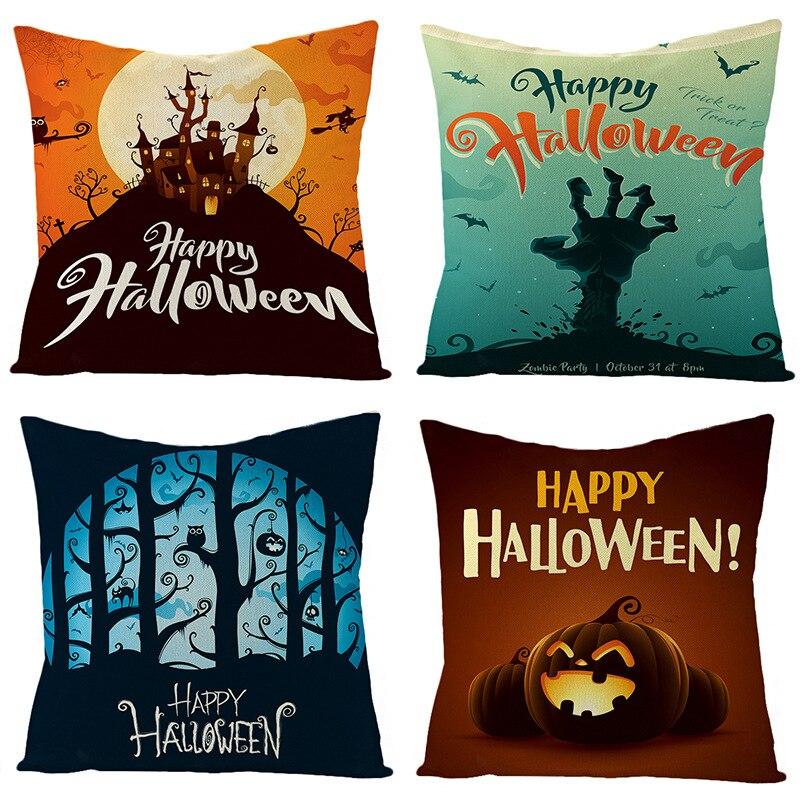 Чехол для подушки на Хэллоуин, свадебные принадлежности, чехол для диванной подушки, чехол для подушки, милый чехол для автомобильной подуш... чехол