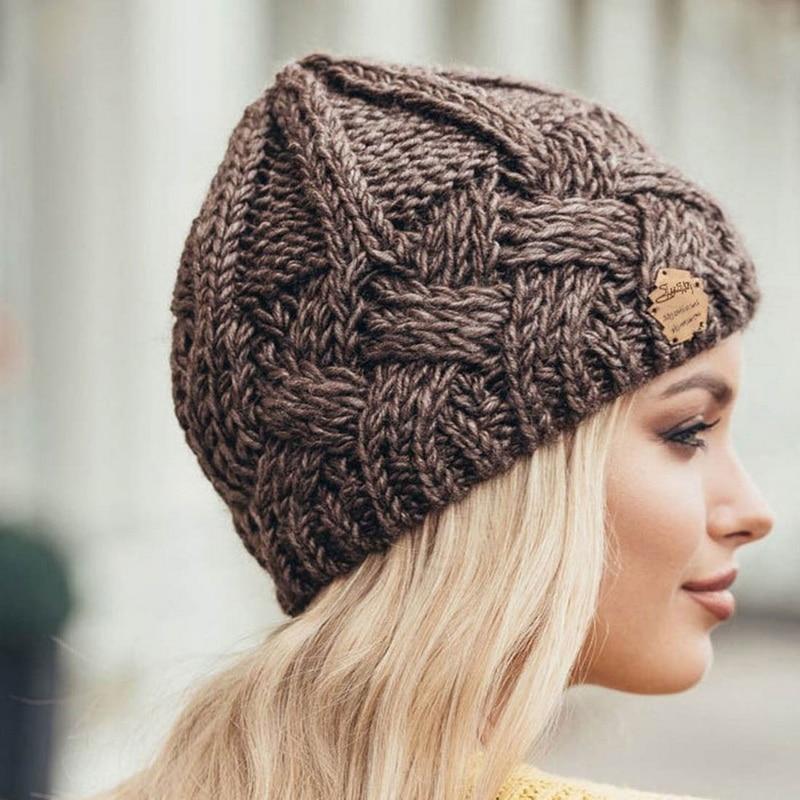 Шапка-бини с флисовой подкладкой для мужчин и женщин, зимняя женская шапка, красный, черный, белый, розовый, серый, вязаные зимние шапочки