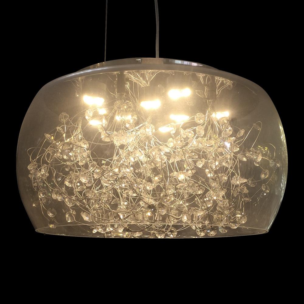 Crystal Pendant Lights Chandelier Cristal Lamparas De Techo Colgante Moderna Crystal Hanging Lights Led Lustres Pending