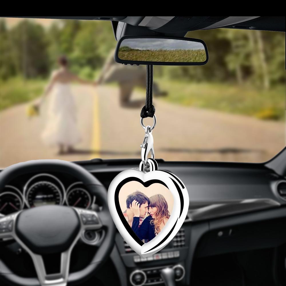 AliExpress - Creative Car Pendant Photo Frame Auto Ornaments Interior Rear View Mirror Decoration Love Family Girl Friends Photos Cars Gifts