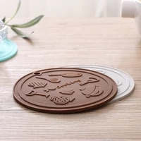 round heat resistant silicone non slip kitchen placemat insulation coaster bowl cup pad pot holder table mat hom decor 51141
