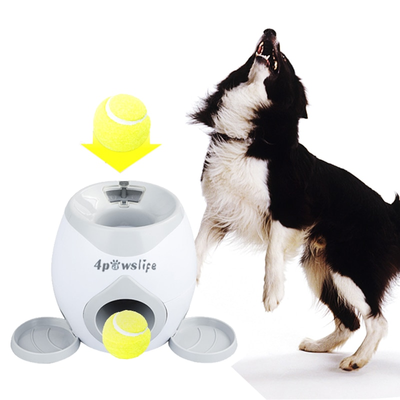 جهاز رمي الكرة الأوتوماتيكي للكلاب الصغيرة ، لعبة تنس للحيوانات الأليفة ، رمي كرات آلي ، قسم انبعاث الكلب
