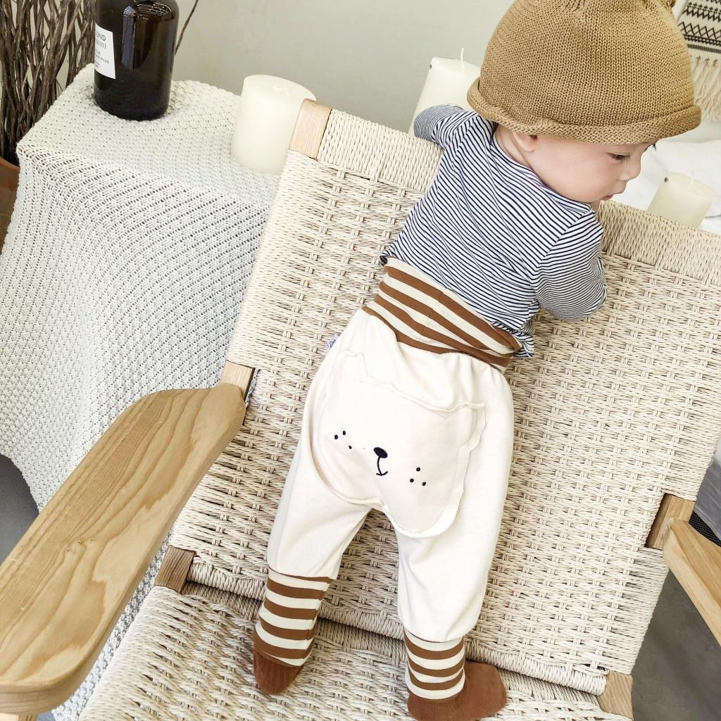 Paoke children's clothing 2021 spring new Korean cartoon buttocks baby zipper pants