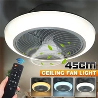 220v 3 gear smart ceiling fans with light remote control three speed stepless dimming ceiling light for dining room bedroom