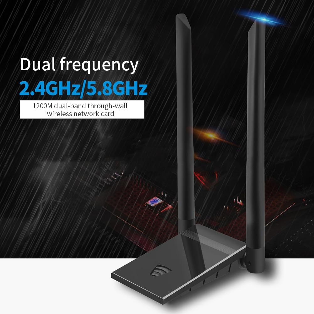 1200Mbps واي فاي USB 3.0 محول شبكة لاسلكية بطاقة 802.11ac ثنائي الموجات واي فاي محول LAN جيجابت 2.4G/5G راوتر ل Xiaomi