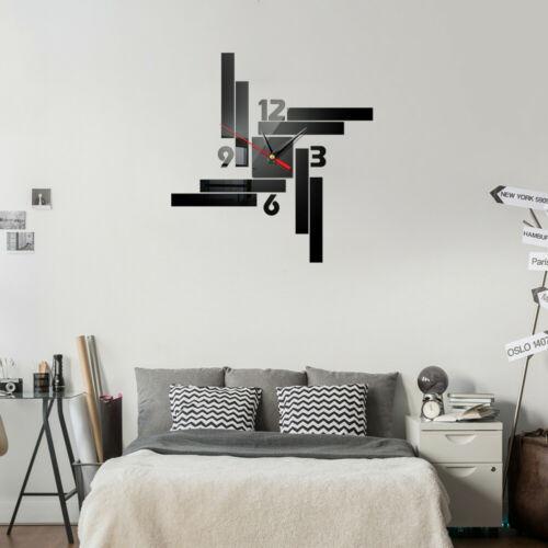 Modern 3d Wall Paper Wall Clock Watch Large Modern Diy Wall Sticker Decal Simple 3d Roman Numeral Home Decor