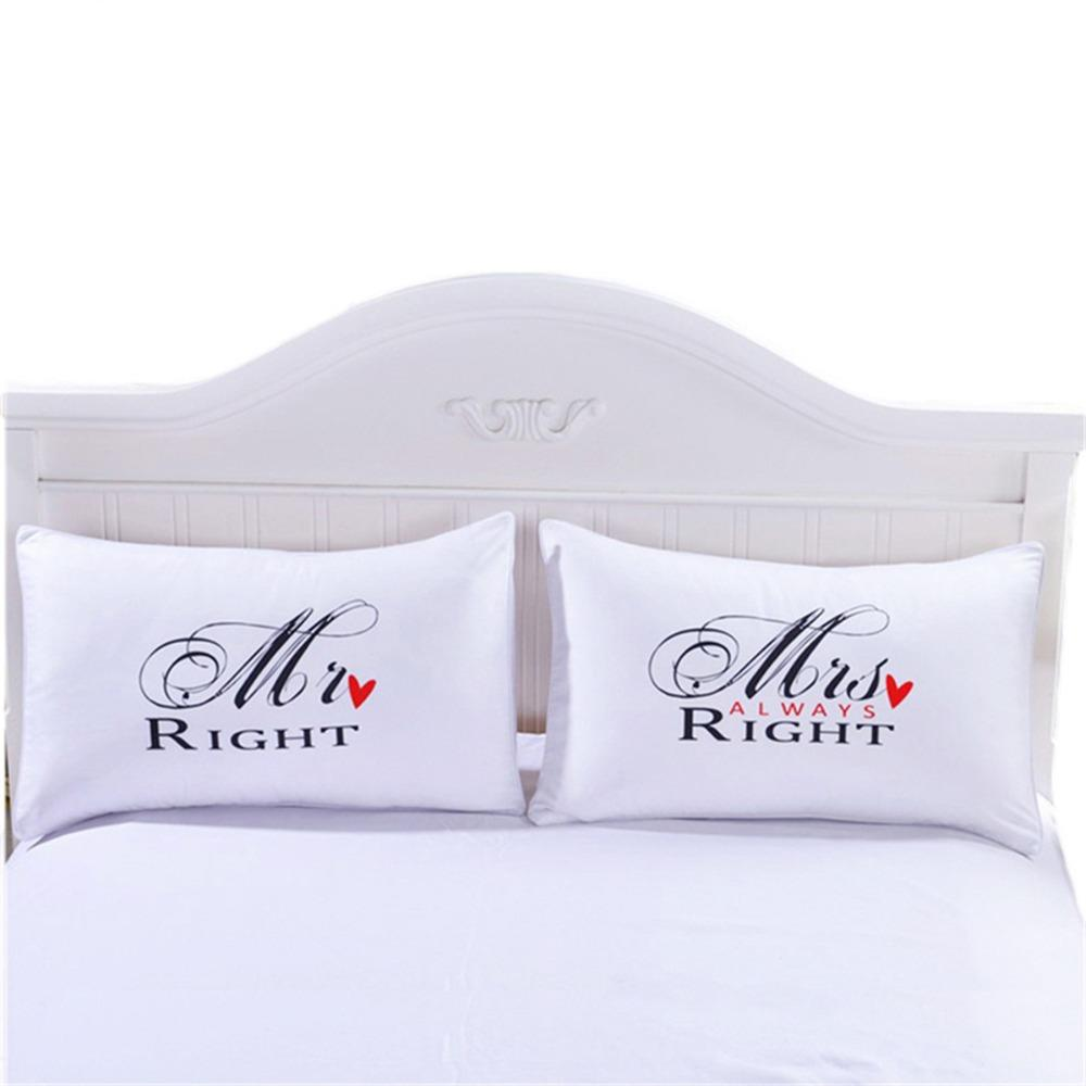 43 romántico Sr. Señora funda de almohada pareja Rey reina Su siempre derecho funda de almohada funda de boda regalo de San Valentín