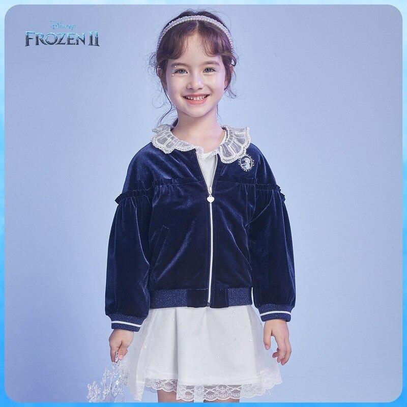Original Disney Autumn 2020 Girls' Coat Autumn Children's Ice And Snow Children's Clothing Retro Velvet DB031IE32