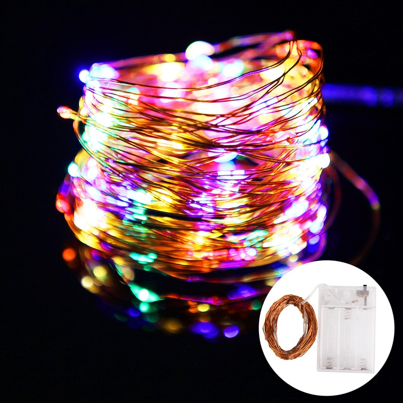 led string light 10m 5m 2m cooper wire holiday light fairy light for christmas wedding party decoration powered by battery usb 2M 3M 5M 10M LED String Lights copper Wire Garland Powered by Battery USB Fairy light Home Christmas Wedding Party Decoration
