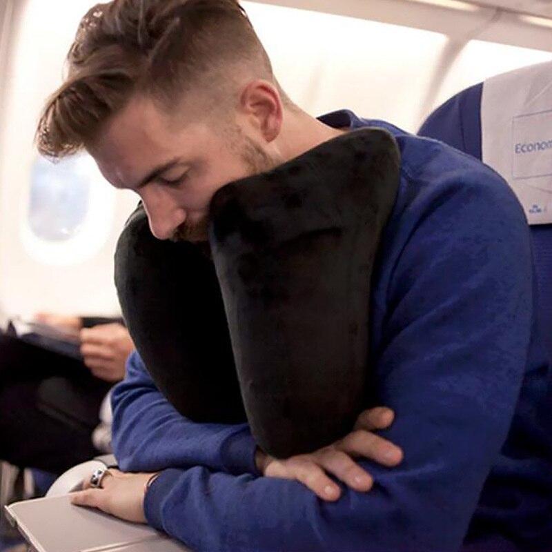H Shape Inflatable Travel Folding Lightweight Nap Neck Car Seat Office Airplane Sleeping Cushion Pillow