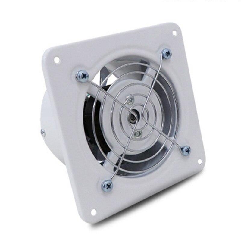4 بوصة 25 واط مروحة العادم عالية السرعة الهواء مروحة نفخ الحائط منخفضة الضوضاء المنزل الحمام المطبخ تنفيس الهواء التهوية 220 فولت