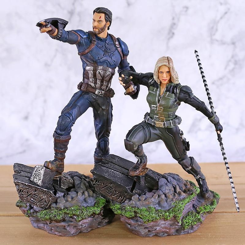 IRON STUDIOS vengadores Infinity War BDS estatua de escala artística 1/10 Viuda Negra muñeca de juguete Brinquedos figuras modelo Gft