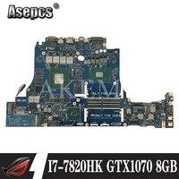For DELL Alienware 15 R3 17 R4 Laptop Motherboard LA-D751P CN-0V1KRT 0V1KRT V1KRT Motherboard Mainboard I7-7820HK GTX1070 8GB