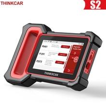 THINKCAR Thinkscan Plus S2 OBD2 сканер ABS SRS ECM система масла EPB BAT DPF TPMS считыватель кодов сброса ODB OBD 2 Диагностика автомобиля