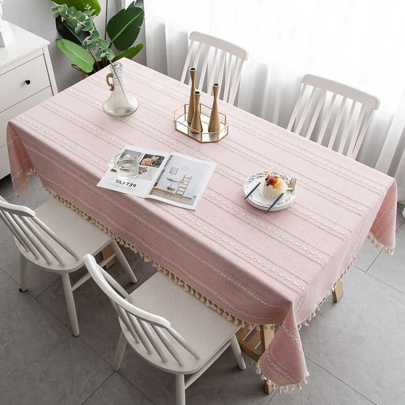 Скатерти накидки на стулья для свадьбы украшение стола Современная льняная скатерть с вышивкой скатерти прямоугольный из ткани