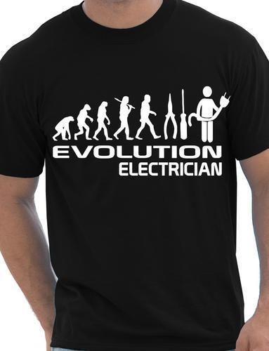 Эволюция электрика забавная Мужская футболка подарок Размер S-XXL крутая Повседневная футболка Мужская Унисекс Новая модная футболка свобод...