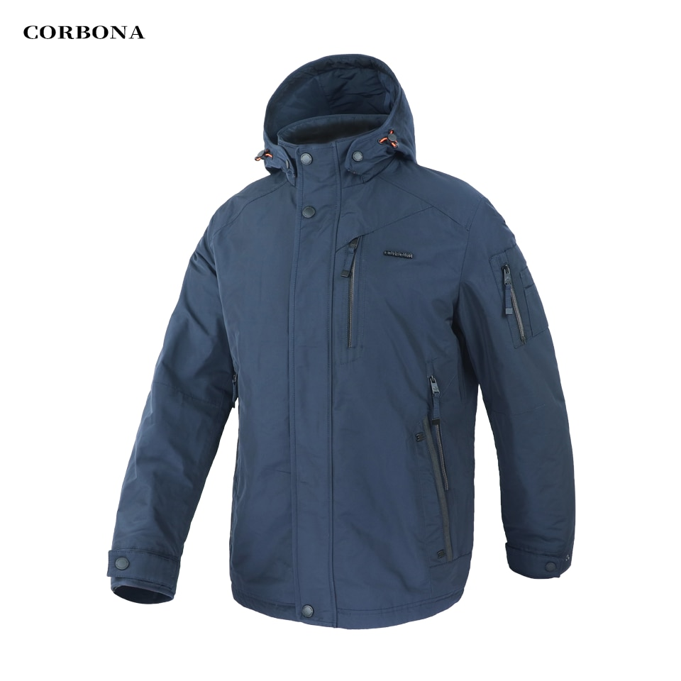 CORBONA New2021 Autumn Mens Jacket Business Casual Memory Foam Outdoor Winter Coat High Quality Cotton Male Clothing Homme Parka