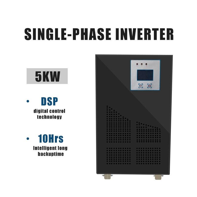 العاكس 96 فولت إلى 220 فولت 5000 واط 96VDC إلى 220VAC ل نظام الطاقة الشمسية 5kW خارج الشبكة الشمسية العاكس التردد المنخفض للمنزل