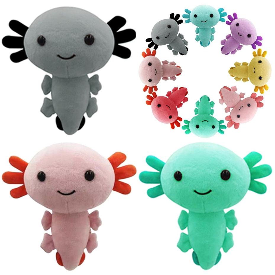 Axolotl плюшевая игрушка Kawaii Animal Axolotl плюшевые фигурки куклы игрушки мультфильм Axolotl Мягкая кукла подарки для детей подушка для девочек игрушки