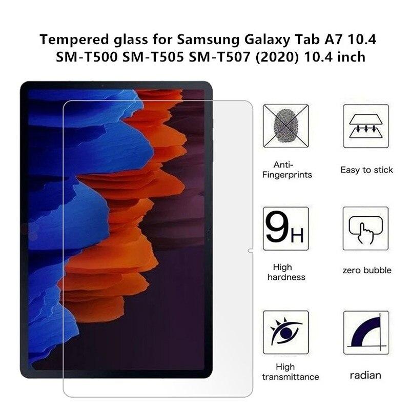 Para samsung galaxy tab a7 10.4 polegada t500 t505 2020 protetor de tela de vidro temperado para SM-T500 SM-T505 SM-T507 tablet filme guarda