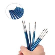 10Pcs Nylon Hair Paint Tools Artist Paint Tool Watercolor Fine Head Point Tip Brushes Set