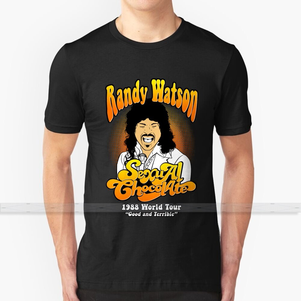 Randy Watson 1988 gira mundial buena impresión de diseño personalizado para hombres mujeres algodón nueva camiseta Cool tamaño grande 6XL Randy Watson World