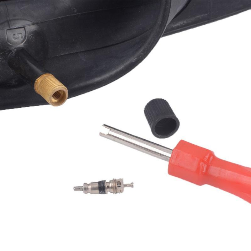 Destornillador con mango ranurado para bicicleta de coche, con núcleo de vástago de Metal, boquilla, llave, neumático, eliminación de ruedas, herramienta de reparación de neumáticos, baja venta