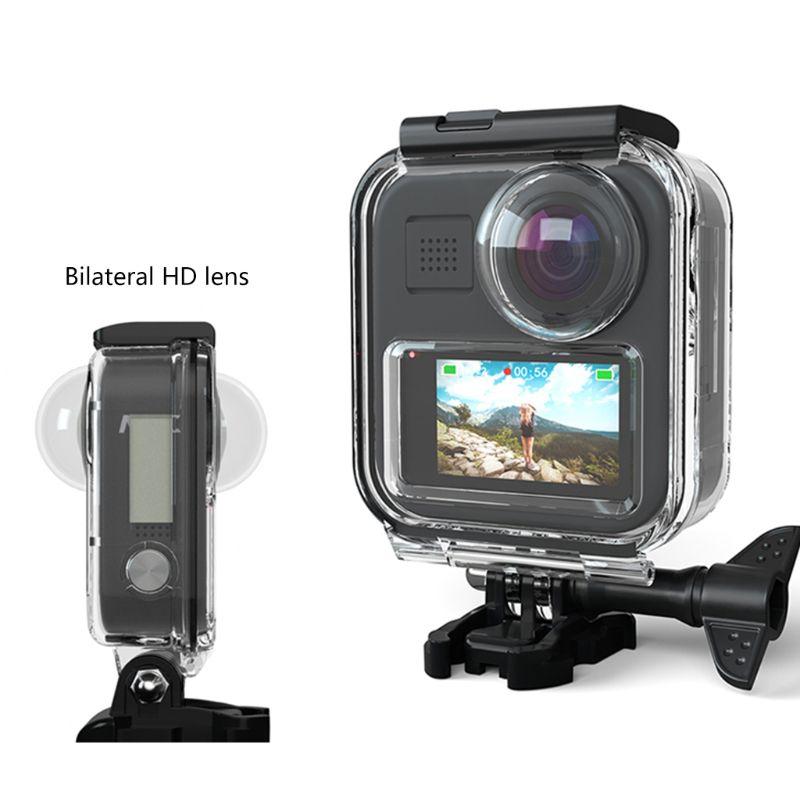 Funda impermeable cubierta protectora película protectora de vidrio templado lámina antiniebla para GoPro Max 360 cámara panorámica Accessori