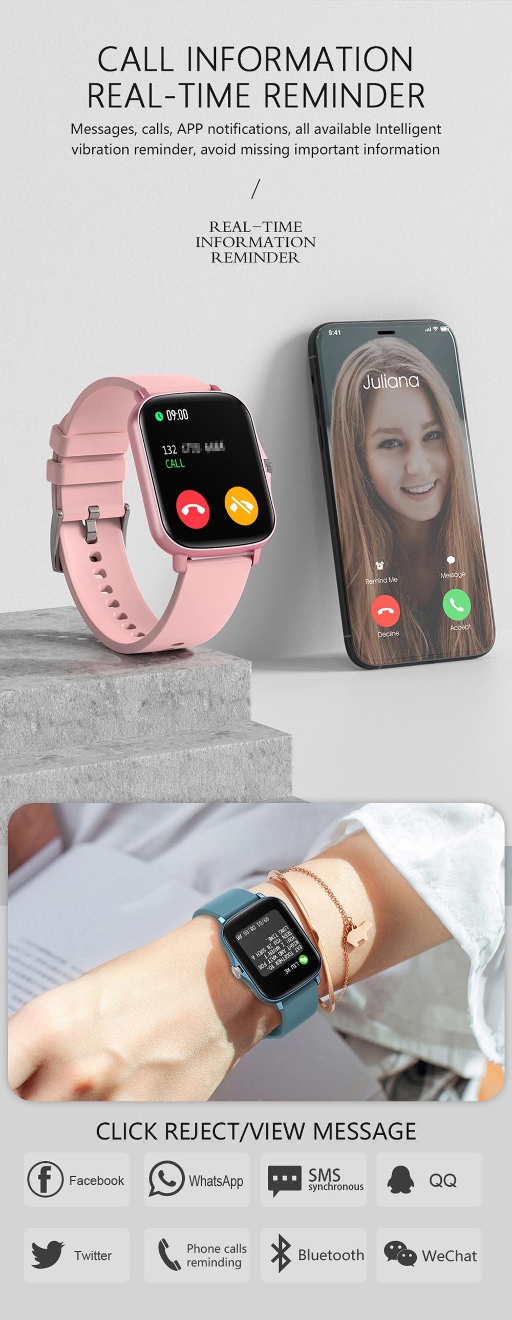 Hb821fb8612f541919ee836e1fa4733755 COLMI P8 Plus 1.69 inch 2021 Smart Watch Men Full Touch Fitness Tracker IP67 waterproof Women GTS 2 Smartwatch for Xiaomi phone