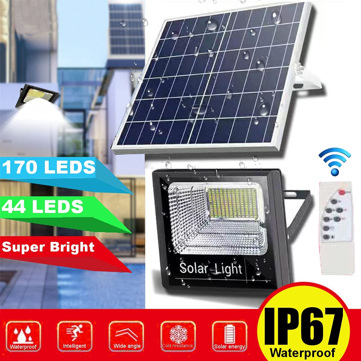 super bright 24 leds solar panel street light led on the wall waterproof outdoor lighting solar panel lamp with 4000ma battery 44/170 Led Light with Solar Panel Garden Lighting on Solar Energy Solar Outdoor Lights Waterproof IP67 Garden Lamp Always Light
