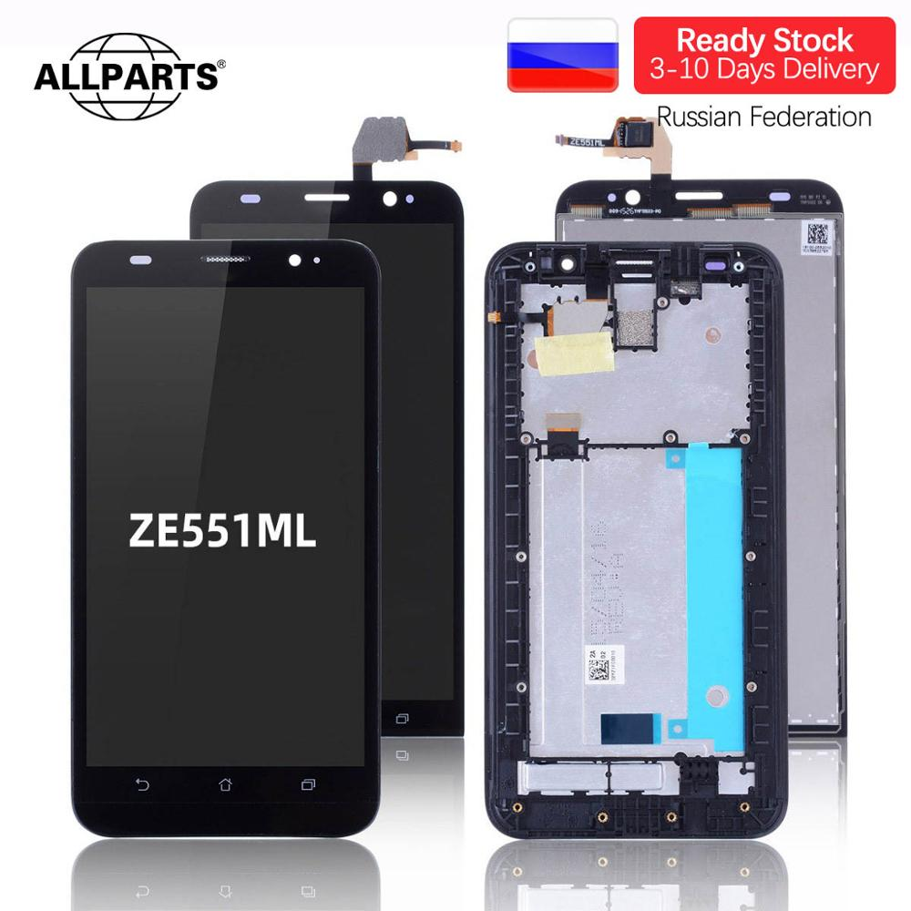 Pantalla LCD Para ASUS Zenfone 2 ZE551ML Z00AD  Display Cristal Táctil digitalizador Con Marco Completa Original 5.5 Negra